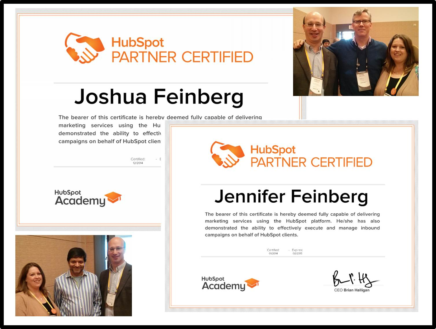 SP Home Run's co-founders are both HubSpot Certified and Inbound Certified, and serve in leadership roles within the HubSpot ecosystem -- both as a HubSpot Certified Partner and as HubSpot User Group co-leaders.