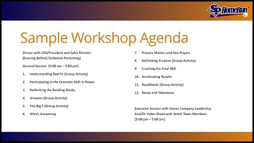 Sample Workshop Agenda