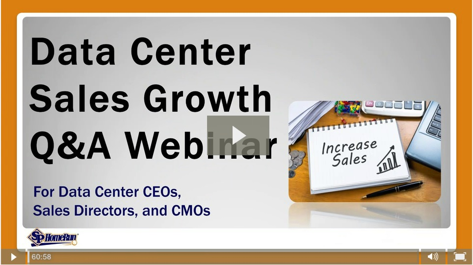 "Watch the ""Data Center Sales Growth Q&A Webinar"" (Recording)"