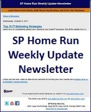 SP Home Run Weekly Update Newsletter