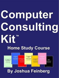 The Computer Consulting Kit Home Study Course was a self-paced training course for owners of SMB technology companies, including computer consulting businesses, VARs, and network integrators -- primarily in the USA, Canada, the UK, and Australia.