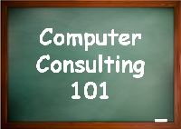 Computer Consulting 101 was a line of products and services developed to help small business computer consulting firms attract better clients, establish a base of recurring service revenue, and grow their businesses.