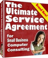 The Ultimate Service Agreement was a self-paced training eBook and set of templates, forms, and checklists for owners of small business IT companies, including technology consulting businesses, VARs, PC repair businesses, and system integrators -- mostly in the USA, Canada, the UK, and Australia.
