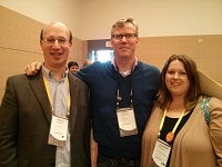HubSpot CEO and Co Founder Brian Halligan with SP Home Run Co Founders Joshua Feinberg and Jennifer Rossler